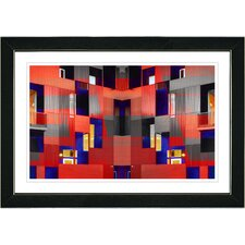 """Atrium Labyrinth"" by Zhee Singer Framed Graphic Art"