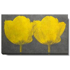 """Twin Tulips"" Gallery Wrapped by Zhee Singer Painting Print on Canvas"