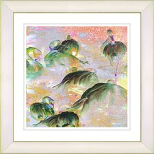 "<strong>Studio Works Modern</strong> ""Flamingo Morning Time"" Framed Fine Art Giclee Print"