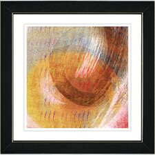"""Orange Amber Moon Glow"" by Zhee Singer Framed Painting Print"