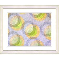 """Circle Series - Bubblegum"" by Zhee Singer Framed Fine Art Giclee Painting Print"