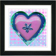 "<strong>Studio Works Modern</strong> ""Heart"" Framed Fine Art Giclee Print"