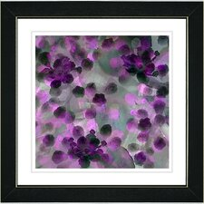 """Popcorn Floral"" by Zhee Singer Framed Painting Print"