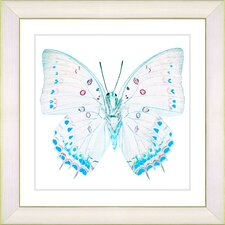 """White Butterfly"" by Zhee Singer Framed Graphic Art"