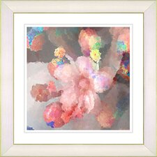 """Pastel Pearl Flower"" by Zhee Singer Framed Painting Print"