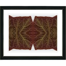 "<strong>Studio Works Modern</strong> ""Abstract Mosaic Leaf Series - Interplay"" Framed Fine Art Giclee Print"