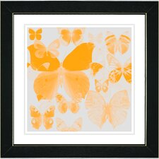 "<strong>Studio Works Modern</strong> ""Orange Butterfly Montage"" Framed Fine Art Giclee Print"