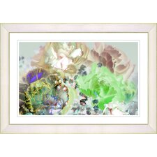 """""""Pastel Scented Bloom"""" by Zhee Singer Framed Fine Art Giclee Painting Print"""