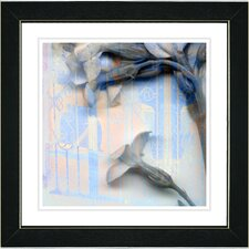 "<strong>Studio Works Modern</strong> ""Summer Blue Morning Bloom Flower"" Framed Fine Art Giclee Print"
