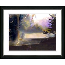 """Carmel Beach Sunset"" by Mia Singer Framed Painting Print"