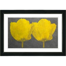 """Twin Tulips"" by Zhee Singer Framed Painting Print"