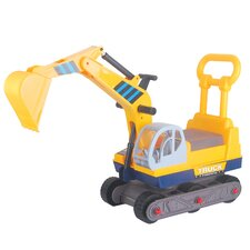 Ride-on 6-Wheel Excavator On Wheels with Back Construction Vehicle