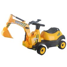 6V Ride-on 4-Wheel Excavator Battery Powered Construction Vehicle