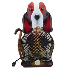 Himalayan Breeze Large Decorative Basset Hound Fan