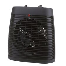 Fan Forced Compact Electric Space Heater with Adjustable Thermostat