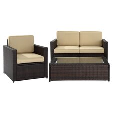 Maya 3 Piece Deep Seating Group with Cushions