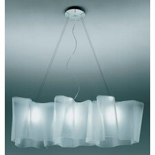 Logico 3 Light Triple Linear Suspension with Incandescent Bulbs