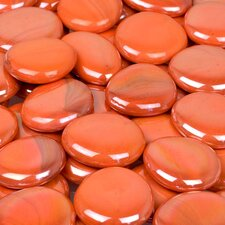<strong>Wholesalers USA</strong> 5 lbs of  Glass Gems in Opal Orange