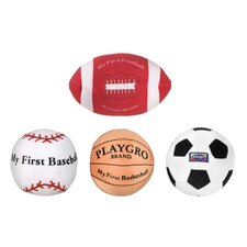 <strong>Playgro</strong> Plush Sports Balls (Set of 4)