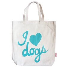 "Pet-Lover ""I Love Dogs"" Tote Bag"
