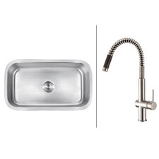 "<strong>Ruvati</strong> 31.5"" x 18.25"" Kitchen Sink with Faucet"