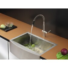 "<strong>Ruvati</strong> 36"" x 21"" Kitchen Sink with Faucet"