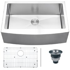"Verona 33"" x 22"" Apron Front Single Bowl Kitchen Sink"