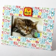 "Mr. Snugs I Love My Cat ""Purr, Meow"" Picture Frame"