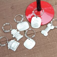 Lucky Dog Expressions Wine Charm (Set of 6)