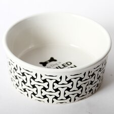 "Unleashed ""My Dog Is Spoiled Rotten"" Stoneware Dog Bowl"