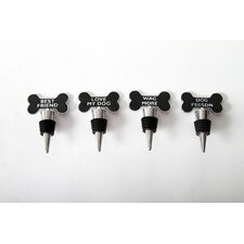 Unleashed Bone Bottle Stopper (Set of 4)