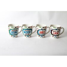 <strong>DEI</strong> Lucky Dog Sassy Sayings Stoneware 20 oz. Jumbo Mug (Set of 4)