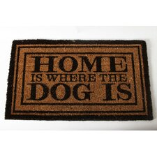 "<strong>DEI</strong> Lucky Dog ""Welcome to the Dog House"" Expressions Coir Rug"