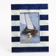 "<strong>DEI</strong> Latitude 38 4"" x 6"" Nautical Stripe Capiz Picture Frame"