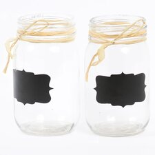 Farm to Table 16 oz. Glass Mason Jar (Set of 2)