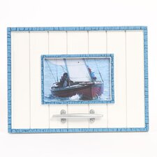 "<strong>DEI</strong> Latitude 38 4"" x 6"" Nautical Wood Picture Frame with Cleat"