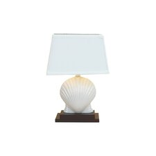 "Scallop Shell 15.5"" H Table Lamp with Empire Shade"