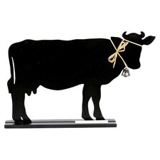 "Farm to Table Cow Standing 1' 2"" x 1' Chalkboard"