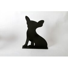 "Unleashed ""Chihuahua"" Dog Silhouette Table 1' 3"" x 1' 0.25"" Chalkboard"