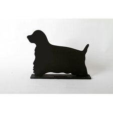 "Unleashed ""Spaniel"" Dog Silhouette Table Chalkboard"