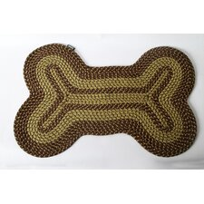 Lucky Dog Cotton Braided Bone Mat