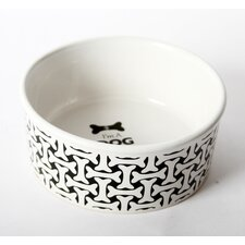 "Unleashed ""I""m a Dog Person"" Stoneware Dog Bowl"