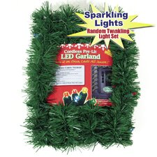 Micro Mini 35 Light Lighted Pine Garland