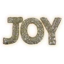 Spun Glitter 100 Light Joy Sign Silhouette