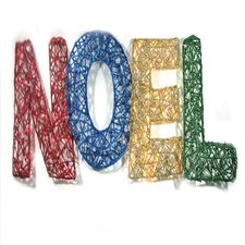 Spun Glitter 150 Light Noel Sign Silhouette