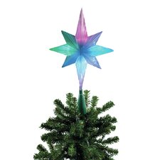 LED Frosty Bethlehem Star Tree Topper