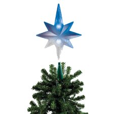 LED Iridescent Bethlehem Star Tree Topper