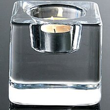 <strong>Orrefors</strong> Ice Cube Crystal Votive