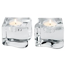 <strong>Orrefors</strong> Puzzle Crystal Votives (Set of 2)