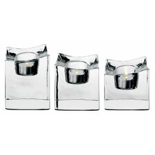 <strong>Orrefors</strong> Polaris Crystal Votives (Set of 3)
